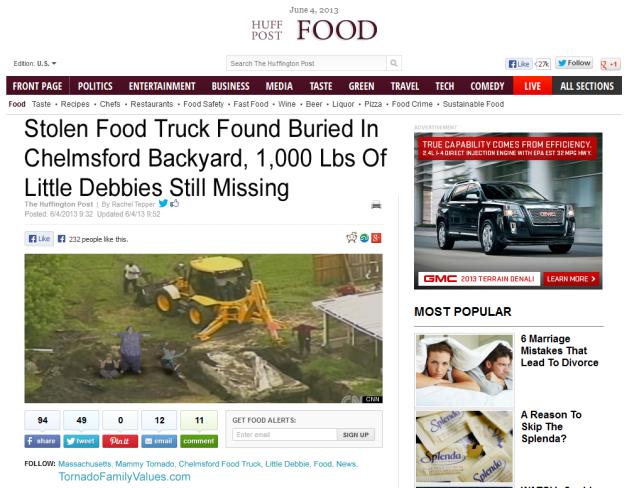 Mammy Tornado Buried Truck
