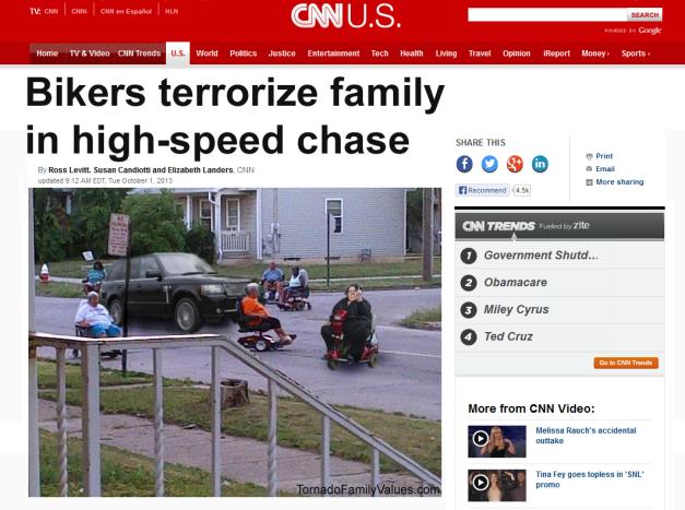 bikers terrorize range rover