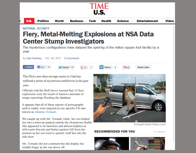 NSA EXPLOSIONS