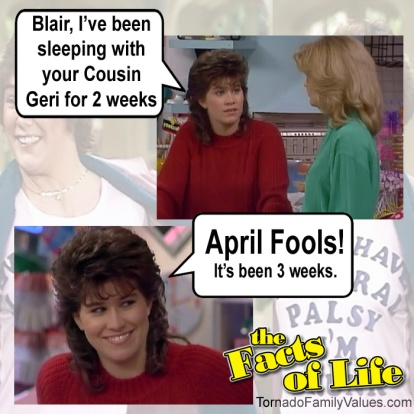 jo blair facts of life cousin geri april fools