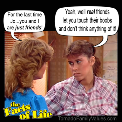 JO BLAIR FACTS OF LIFE FRIENDS TOUCH BOOBS