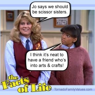 jo blair facts of life lesbian gay scissor sisters