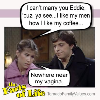 JO BLAIR POLNIACZEK FACTS OF LIFE LESBIAN EDDIE COFFEE