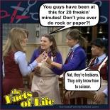 rock paper scissor jo blair facts of life lesbian femslash