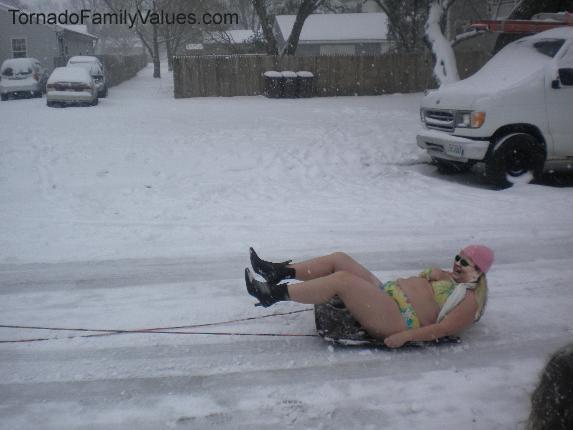 sledding tammy