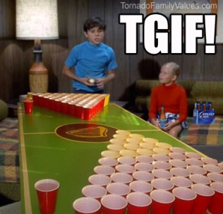 Brady Bunch Beer Pong TGIF