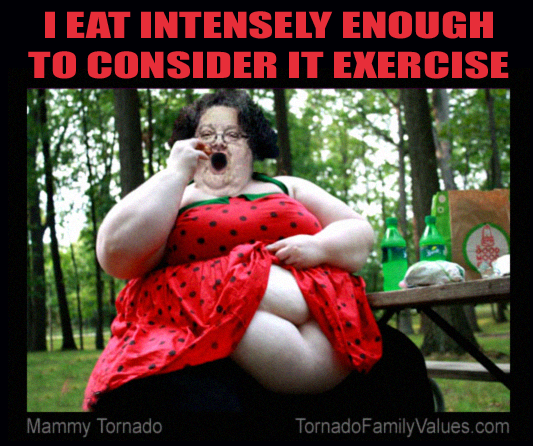 eat intensely
