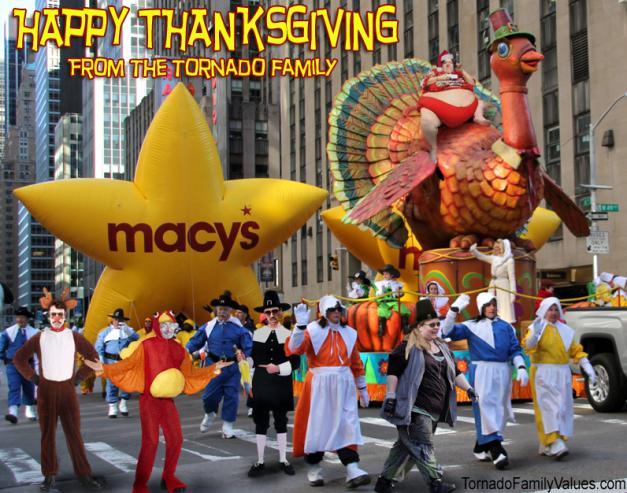 macy's thanksgiving day parade tornado family