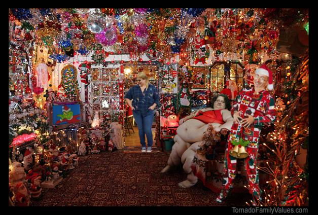 tornado family christmas decorations