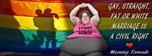 GAY MARRIAGE CIVIL RIGHT MAMMY TORNADO