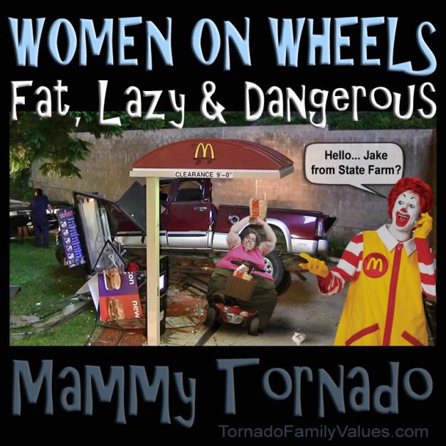 fat lazy dangerous mammy tornado