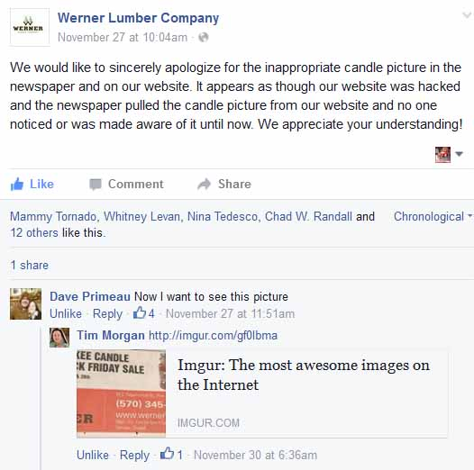 werner lumber page