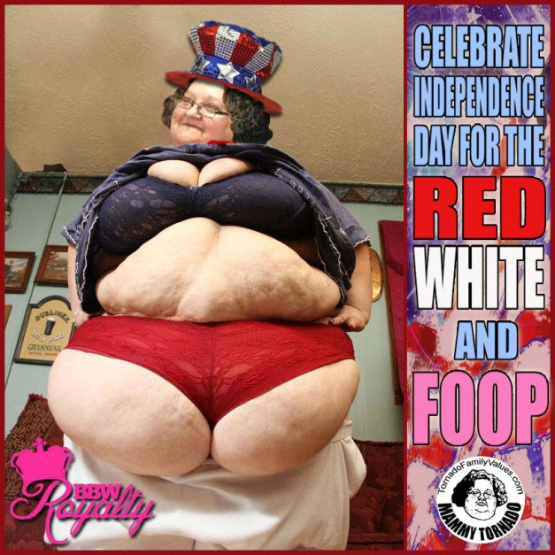 RED WHITE AND FOOP MAMMY TORNADO INDEPENDENCE DAY