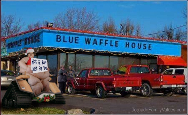 blue waffle house tornado family values