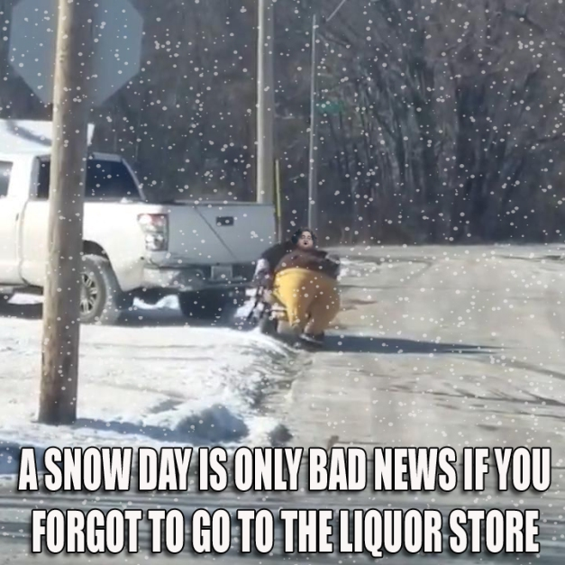 SNOW DAY MAMMY TORNADO LIQUOR STORE