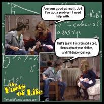 jo blair facts of life math problem