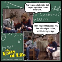 jo blair facts of life math problem