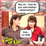 lesbian relationships george jo facts of life
