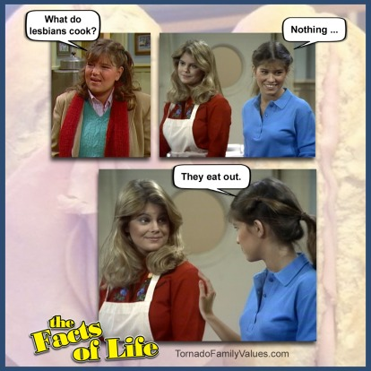 lesbians cook jo blair facts of life